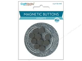 craft & hobbies: Craft Medley Round Magnets 3/8 in. 20 pc.