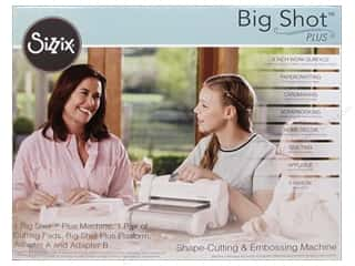 die cutting machines: Sizzix Big Shot Plus Cutting Machine - White & Gray