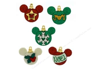scrapbooking & paper crafts: Jesse James Dress It Up Embellishments Disney Mickey Ornaments