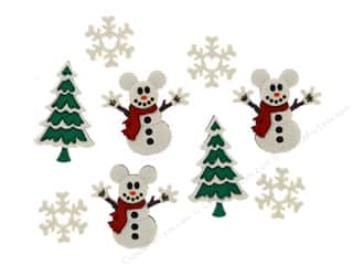 Christmas embellishment: Jesse James Dress It Up Embellishments Disney Mickey Snowmen