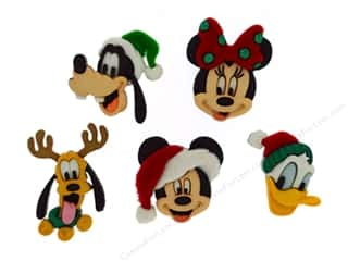 scrapbooking & paper crafts: Jesse James Dress It Up Embellishments Disney Holiday Heads