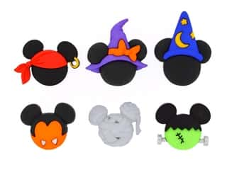 craft & hobbies: Jesse James Embellishments - Disney Mickey & Minnie Halloween Hats