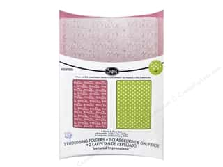 Sizzix: Sizzix Textured Impressions Embossing Folders Smile & Plus by KI Memories