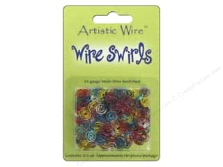 24 ga wire: Artistic Wire Wire Swirls 24 ga. Assorted Standard Color (6 sets)