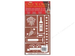 craft & hobbies: Armour Over 'N' Over Stencil Wine Time