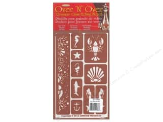 craft & hobbies: Armour Over 'N' Over Stencil Under The Sea