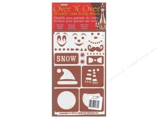 craft & hobbies: Armour Over 'N' Over Stencil Snow Fun