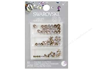 Rhinestones: Cousin Swarovski Flatback Rhinestone Mix Wedding B 80 pc.