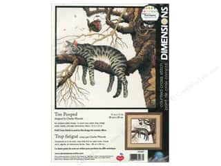 Weekly Specials Leisure Arts Loop-D-Doo Kits: Dimensions Counted Cross Stitch Kit 11 x 11 in. Too Pooped