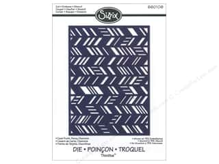 Sizzix Thinlets Dies Card Front Fancy Chevrons by Jen Long