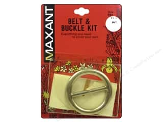 "Buckles: Maxant Covered Buckle & Belt Kit 1.5"" Round"