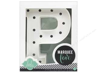 "craft & hobbies: Heidi Swapp Marquee Love Letter Kit 8 1/2 in. ""P"""