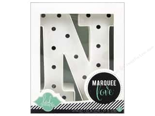"scrapbooking & paper crafts: Heidi Swapp Marquee Love Letter Kit 8 1/2 in. ""N"""