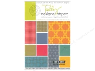 designer paper: Hero Arts Clearly Kelly Designer Paper Pad 4 in. x 6 in.