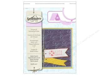 die cutting machines: Spellbinders Embossing Folder Small Splish Splash