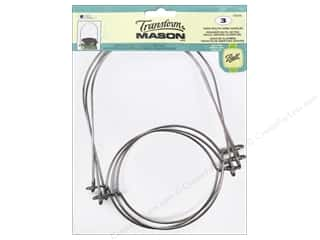 Loew Cornell Transform Mason Wide Mouth Wire Handle Silver 3 pc.