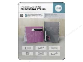 die cutting machines: We R Memory Keepers Embossing Strips Encouragement Phrases