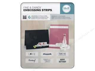 Clearance We R Memory Sew Ribbon Ribbon: We R Memory Embossing Strips Phrases Dear Lizzy Fine & Dandy