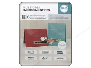 die cutting machines: We R Memory Keepers Embossing Strips Shimelle Phrases