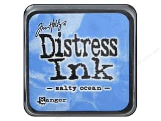 stamps: Tim Holtz Distress Mini Ink Pad by Ranger Salty Ocean