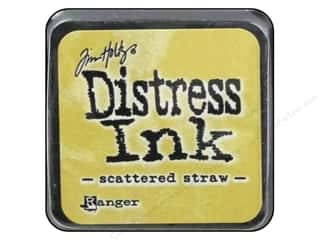 paper straw: Ranger Tim Holtz Distress Mini Ink Pad Scattered Straw
