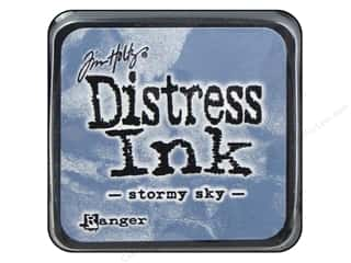 stamps: Tim Holtz Distress Mini Ink Pad by Ranger Stormy Sky