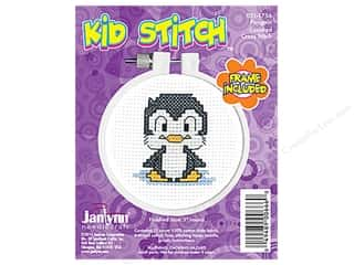yarn & needlework: Janlynn Kid Stitch Cross Stitch Kit 3 in. Penguin