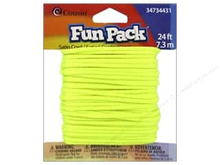 Weekly Specials Jewelry Making: Cousin Fun Pack Satin Cord Neon Yellow