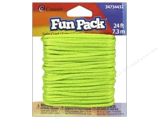 Weekly Specials Jewelry Making: Cousin Fun Pack Satin Cord Neon Green