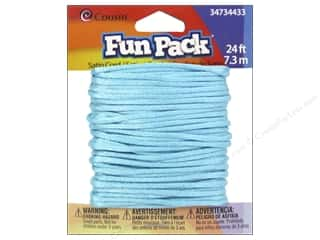 Weekly Specials Jewelry Making: Cousin Fun Pack Satin Cord Turquoise