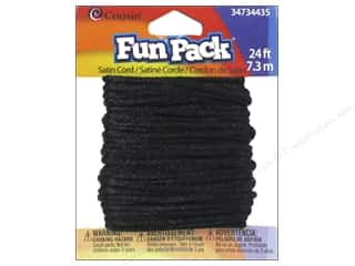 Weekly Specials Jewelry Making: Cousin Fun Pack Satin Cord Black
