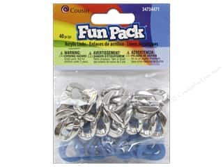 beading & jewelry making supplies: Cousin Fun Pack Kit Acrylic Silver/Blue