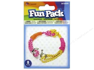 Weekly Specials Pepperell Parachute Cord: Cousin Fun Pack Kit Paracord Pink/Orange/Yellow