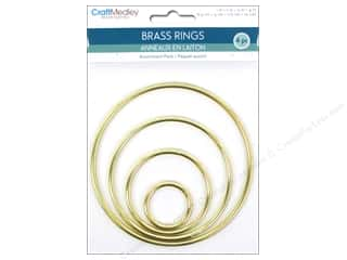 craft & hobbies: Craft Medley Brass Ring Assortment Pack 4 pc.
