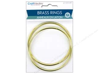 craft & hobbies: Craft Medley Brass Ring 3 in. 2 pc.