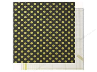 "Crate Paper 12""x 12"" Maggie Open Book Dots Gold"
