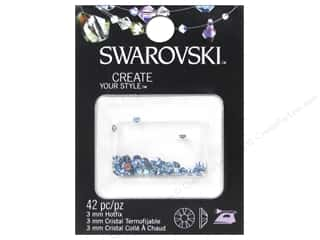 beading & jewelry making supplies: Cousin Swarovski Hotfix Rhinestones 3 mm 42 pc. Aquamarine