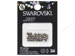 beading & jewelry making supplies: Cousin Swarovski Hotfix Rhinestones 4 mm 30 pc. Greige