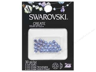 beading & jewelry making supplies: Cousin Swarovski Hotfix Rhinestones 4 mm 30 pc. Light Sapphire