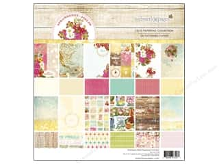 """Holiday Sale Printed Cardstock: Webster's Pages Strawberry Fields Collection Paper Pad 12""""x 12"""""""