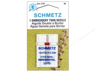 schmetz double eye: Schmetz Machine Embroidery Needle Twin Size 75/3.0