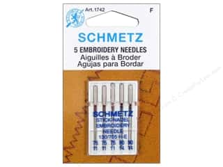 Schmetz Machine Embroidery Needle Assorted Size 75-90 5 pc