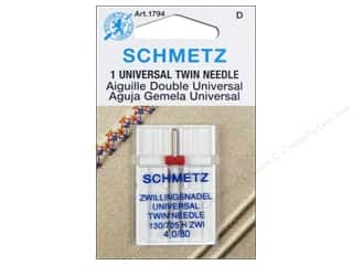 Schmetz Machine Universal Needle Twin 4mm Size 80