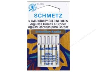 Schmetz Machine Embroidery Needle Gold Size 90/14 5 pc