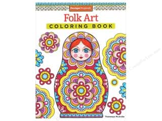 books & patterns: Design Originals Folk Art Coloring Book