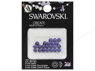 Cousin Swarovski Hotfix Rhinestones 5 mm 22 pc Tanzanite