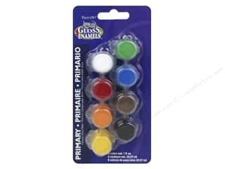craft & hobbies: DecoArt Americana Gloss Enamels Paint Pot 8-Color Primary