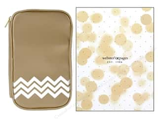 Fabric Bags / Purses: Webster's Pages Color Crush CraftMate Folio Gold