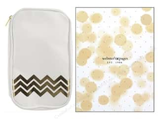 Fabric Bags / Purses: Webster's Pages Color Crush CraftMate Folio White