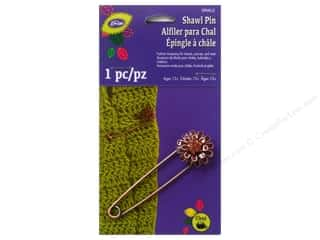 jewelry safety pin: LoRan /Dritz Shawl Pin Enamel Flower Daisy Bronze